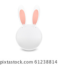 動物系列-可愛兔子插圖 61238814