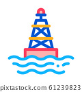 Sea Light Buoy Icon Vector Outline Illustration 61239823