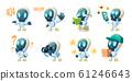 Cute chat bot cartoon, conversation robot 61246643