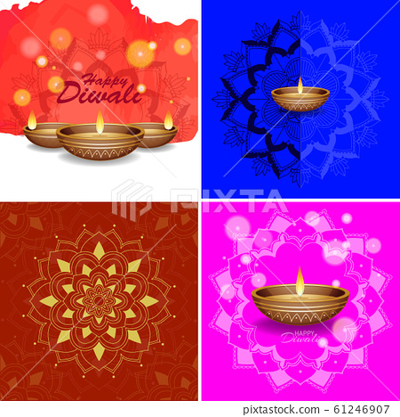 Background template with mandala designs 61246907