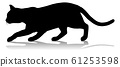Silhouette Cat Pet Animal 61253598