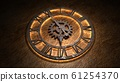 Time laps of an old watch. The hands of the clock spin quickly. Indicate the time is 7:00. Clock Time 7:00. 7 am, 7 pm. 3D illustration. 61254370