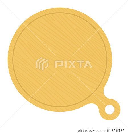 Round wooden pizza board vector flat isolated 61256522