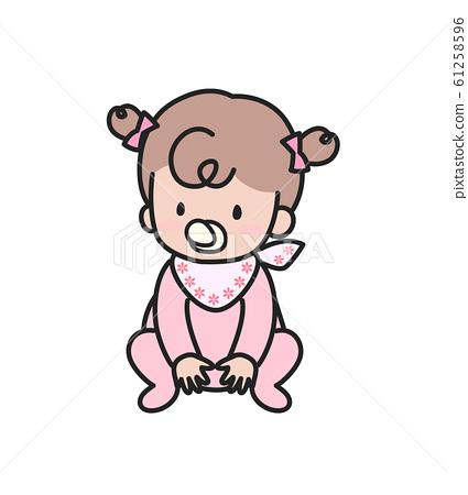 一个婴儿 61258596