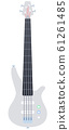 Bass guitar vector flat isolated 61261485