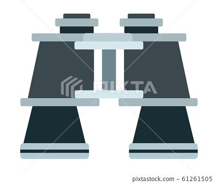 Travel binoculars vector flat isolated 61261505