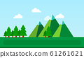 landscape with mountains and spruce vector flat isolated 61261621