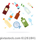 Glass trash for sorting vector flat isolated 61261841
