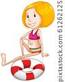 Athlete in bikini on white background 61262125