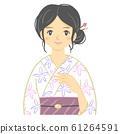 ผู้หญิงผู้ใหญ่ในชุดยูกาตะ (ผม Kanzan) 61264591