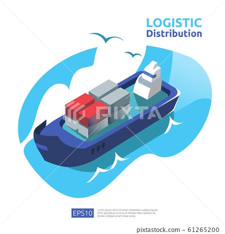 logistic distribution cargo service concept. 61265200