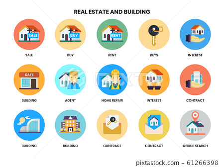 Building icons set for business 61266398