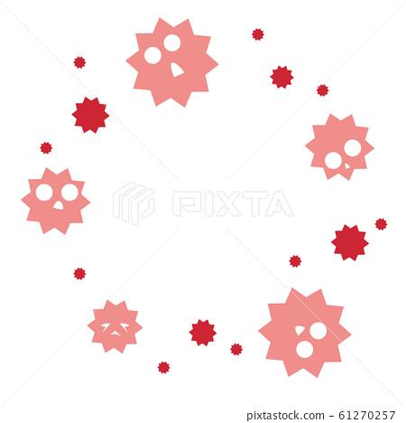 Virus template circle 61270257