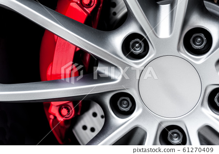 Close up of a modern sport wheel 61270409