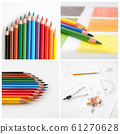Colorful pencils, collage for your design 61270628