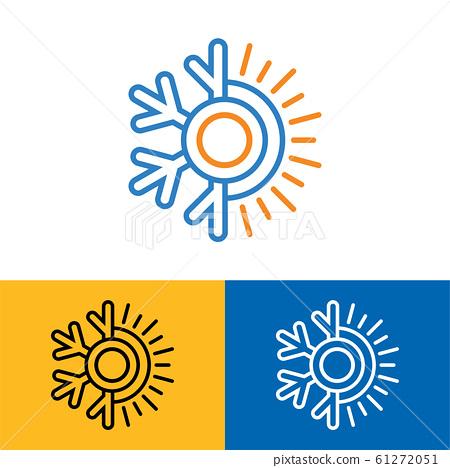 Air conditioner logo sign symbol Hot and cold symbol 61272051