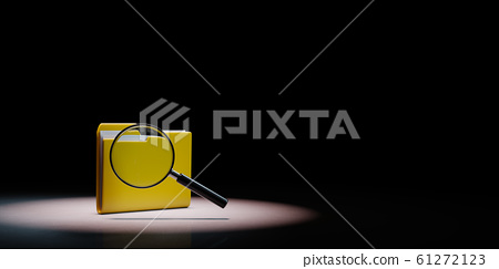 Document Folder with Magnifier Spotlighted on 61272123