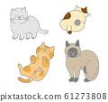 4种可爱的猫咪材料 61273808