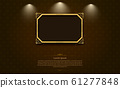 gold frame border picture and pattern thai art 61277848