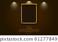 gold frame border picture and pattern thai art 61277849