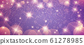 抽象的金色闪闪发光的背景与模糊点 61278985