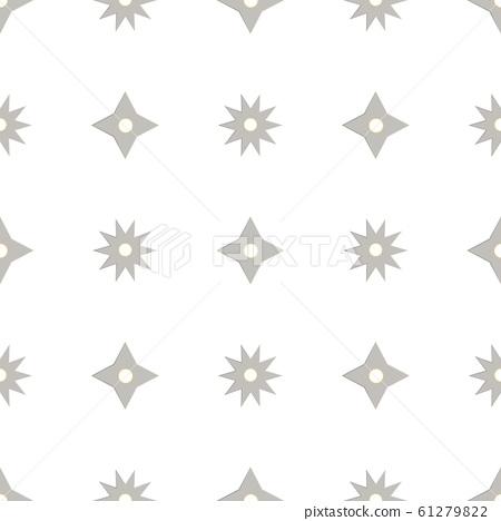 Seamless pattern with shurikens. Ninja weapon 61279822