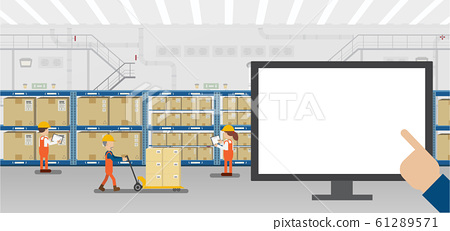 Monitor in warehouse 61289571