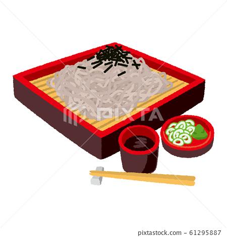 Illustration of zaru soba (square type zaru) 61295887