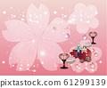 Hina Matsuri閃閃發光的粉紅色背景材料的Hina娃娃和配件 61299139