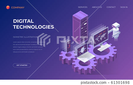 Landing page for digital technologies 61301698