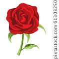 ดอกกุหลาบบานเต็มตัดดอกสีแดง 61303250
