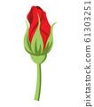ดอกตูมดอกตูมกุหลาบตัดดอกสีแดง 61303251