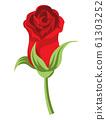 ดอกกุหลาบ, เปิด, ตา, ไม้ตัดดอก, สีแดง 61303252