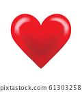 วัสดุการออกแบบหัวใจสีแดง 61303258