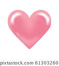 วัสดุการออกแบบหัวใจสีชมพู 61303260