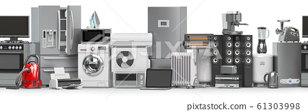 Household and kitchen appliances and home technics 61303998