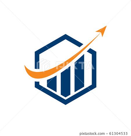 Financial Accounting Logo, Financial Advisers Logo Design Template Vector Icon, Modern Finance Business logo, Financial Stock Exchange Market 61304533