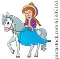 Winter princess riding horse 1 61305161