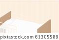 Nursing bed background illustration_curtain_yellow_16: 9 61305589