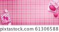 sweet banner included gift boxes over pink Scottish background for each side and realistic heart shapes 61306588