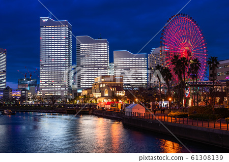 《Kanagawa Prefecture》 Yokohama Minato Mirai ・ Whole building light up night view 《2019》 61308139