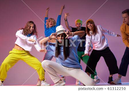 Teenage girl dancing hip-hop studio series 61312250