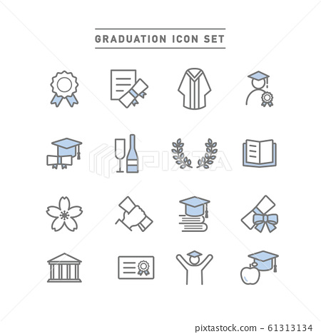 GRADUATION ICON SET 61313134