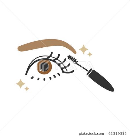眼睛,睫毛膏,化妝,彩妝 61319353