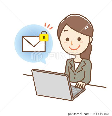 電子郵件保護鎖安全 61319408