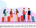 Group of Traveler People ,cartoon character.  Man, 61323014