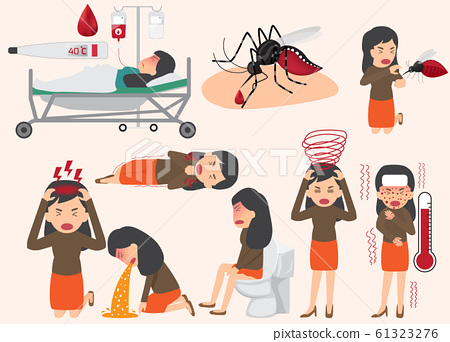 Template design of details dengue fever or flu and 61323276