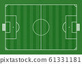 top view of soccer field 61331181