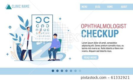 Landing Page Presenting Ophthalmologist Clinic 61332921
