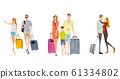 插图素材:旅行,度假,一组 61334802